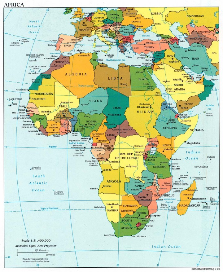 Africa Subsahariana Cartina Fisica.Edode Onlus Dove Operiamo